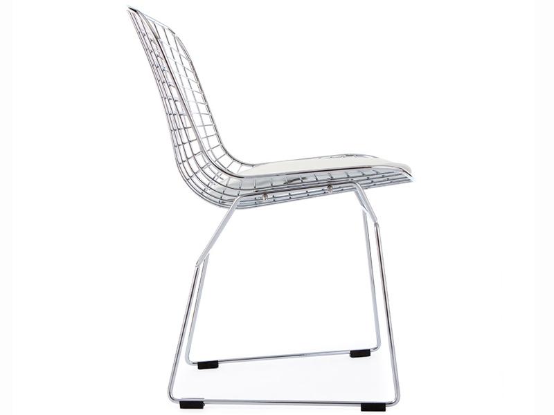 Bild von Stuhl-Design Bertoia Wire Side Stuh - Weiß