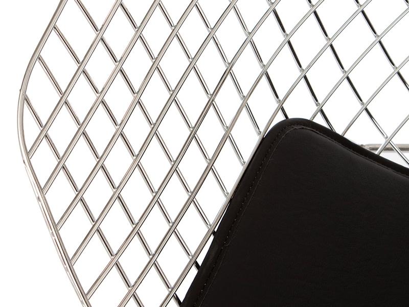 Bild von Stuhl-Design Bertoia Wire Stuhl Diamond - Schwarz