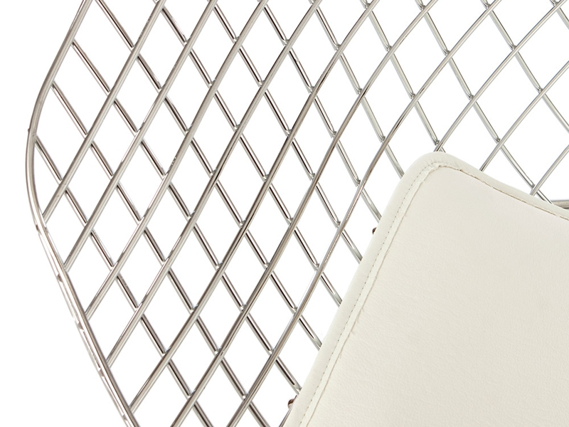 Bild von Stuhl-Design Bertoia Wire Stuhl Diamond - Weiß