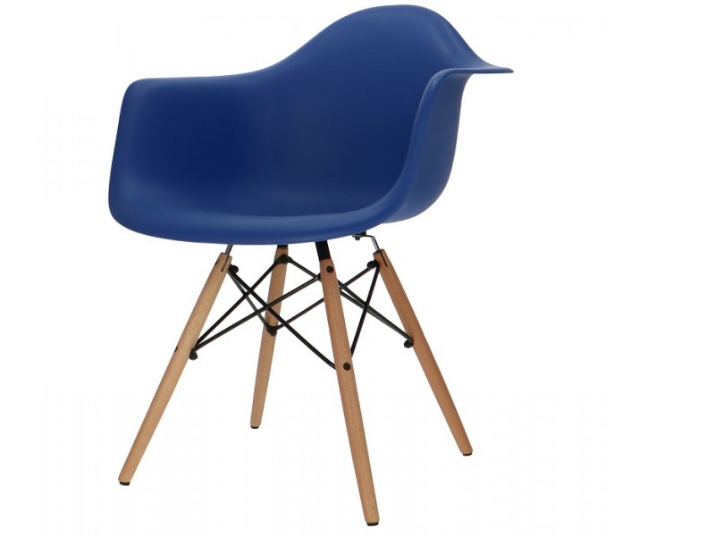 Bild von Stuhl-Design COSY Holz Stuhl - Dunkelblau
