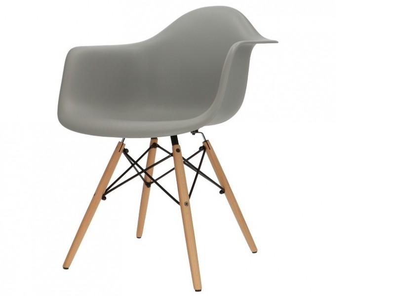 Bild von Stuhl-Design COSY Holz Stuhl - Grau