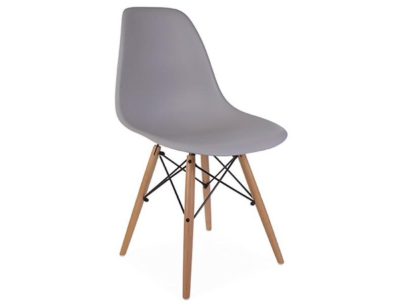 Bild von Stuhl-Design COSY Holz Stuhl - Mausgrau