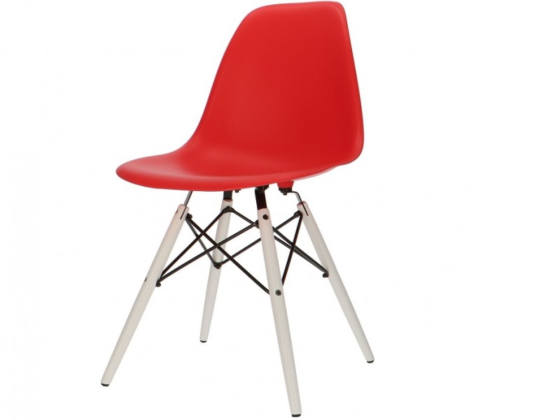 Bild von Stuhl-Design COSY Holz Stuhl - Rot
