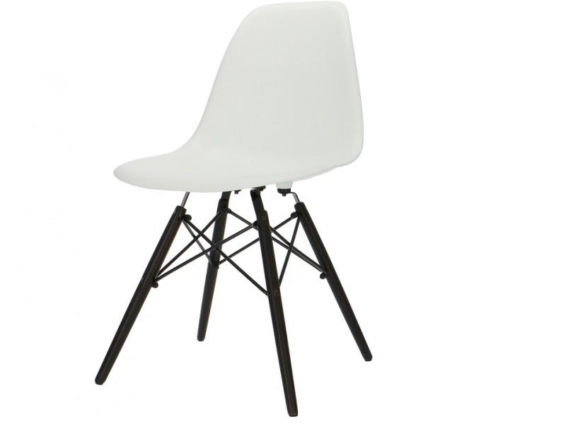 Bild von Stuhl-Design COSY Holz Stuhl - Weiß (Dunkle Beine)