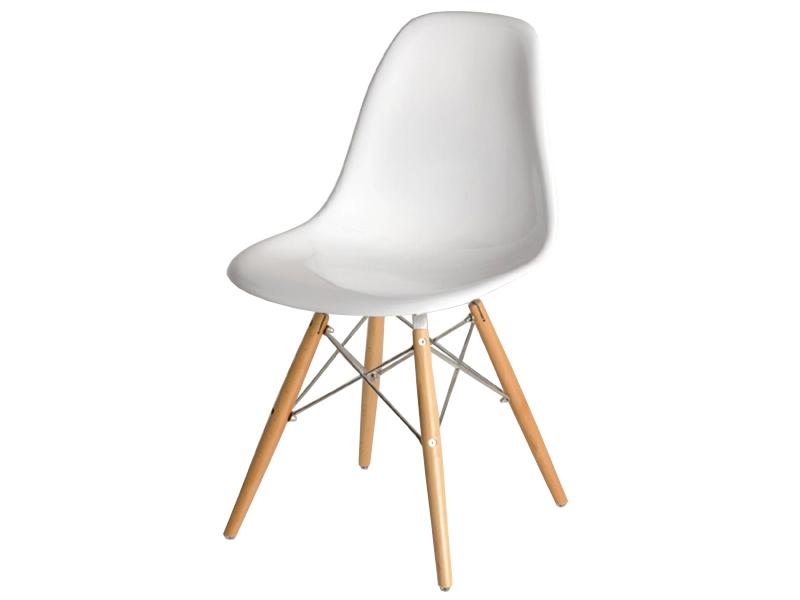Bild von Stuhl-Design COSY Holz Stuhl - Weiß Glänzend