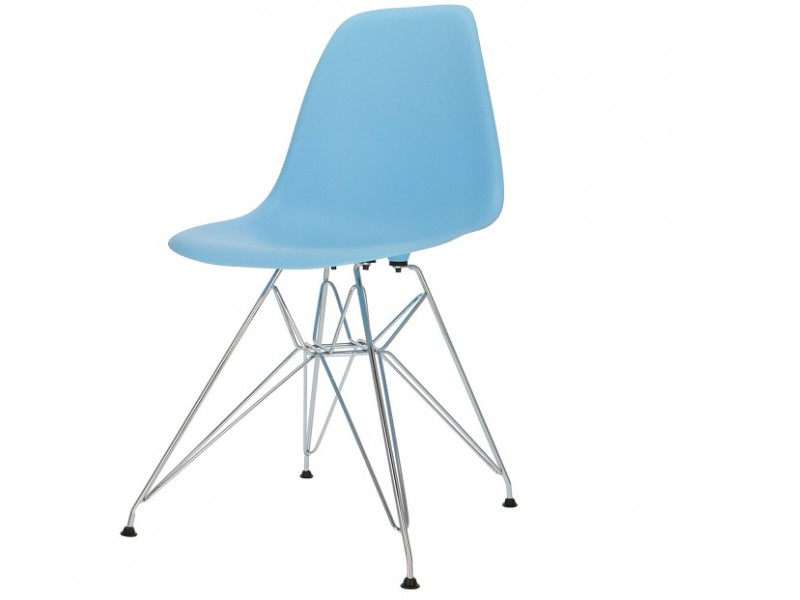Bild von Stuhl-Design COSY Metall Stuhl - Hellblau
