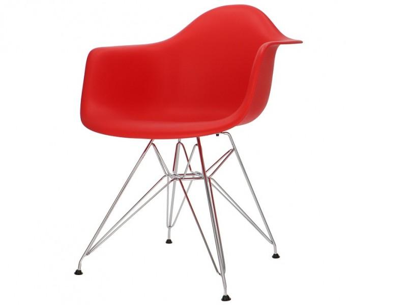 Bild von Stuhl-Design COSY Metall Stuhl - Rot