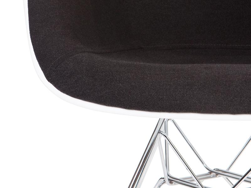 Dar stuhl wollpolsterung grau for Design stuhl grau