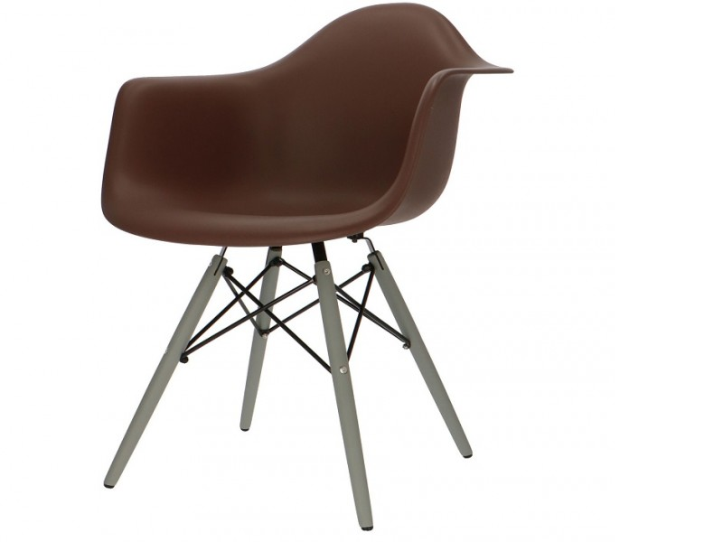 Bild von Stuhl-Design DAW Eames Stuhl - Braun