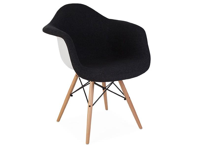 Daw stuhl wollpolsterung grau for Designer stuhl grau