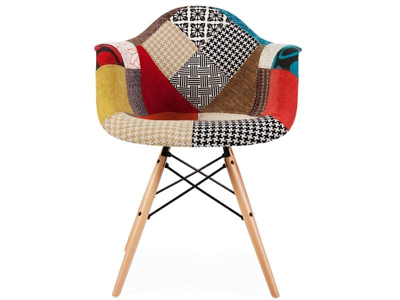 Bild von Stuhl-Design DAW Stuhl Wollpolsterung - Patchwork