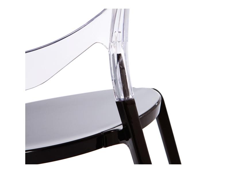Bild von Stuhl-Design Domino Stuhl - Durchsitig/Schwarz