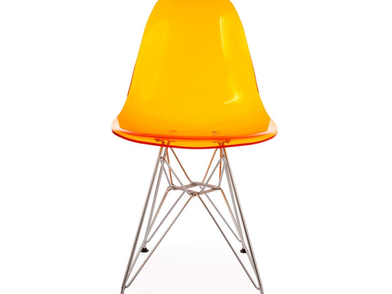 Dsr stuhl durchsichtig orange for Design stuhl durchsichtig