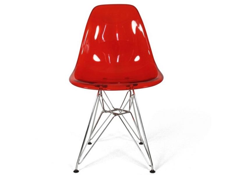 Bild von Stuhl-Design DSR Eames Stuhl - Durchsichtig Rot