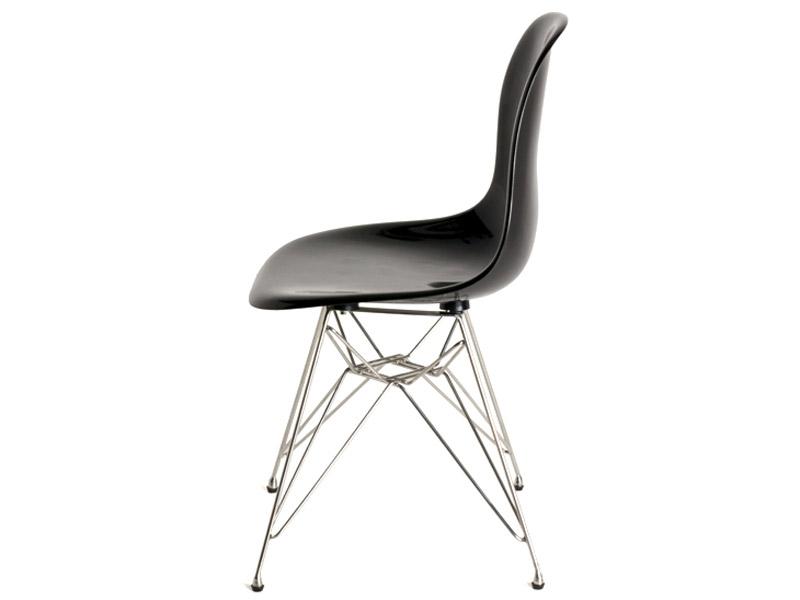 dsr stuhl schwarz gl nzend. Black Bedroom Furniture Sets. Home Design Ideas