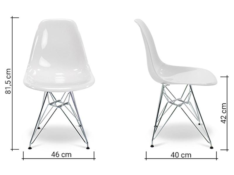 dsr stuhl wei gl nzend. Black Bedroom Furniture Sets. Home Design Ideas