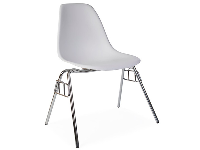 Dss stuhl stapelbar wei for Stuhl design stapelbar