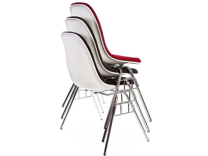 Bild von Stuhl-Design DSS Stuhl Stapelbar Wollpolsterung - Grau