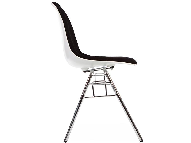 Bild von Stuhl-Design DSS Stuhl Stapelbar Wollpolsterung - Schwarz