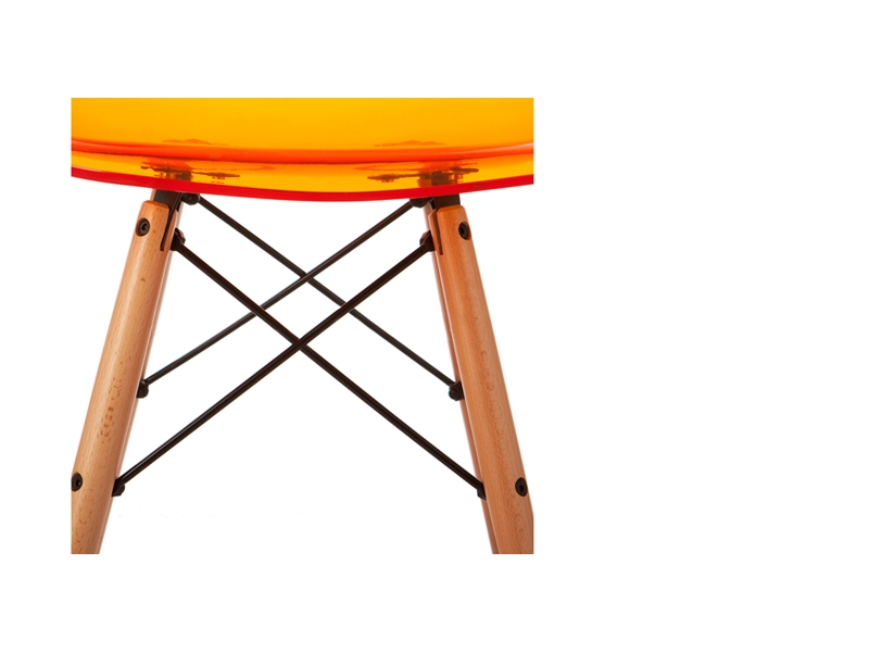 Bild von Stuhl-Design DSW Eames Stuhl  - Durchsichtig Orange