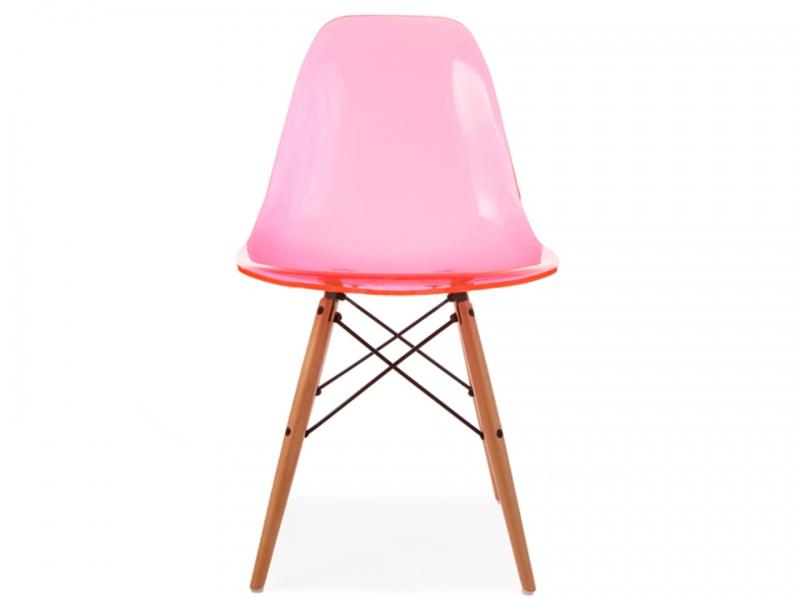 Dsw stuhl durchsichtig rosa for Design stuhl durchsichtig
