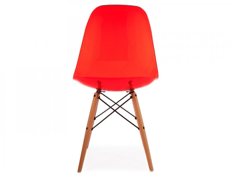Bild von Stuhl-Design DSW Eames Stuhl - Durchsichtig Rot