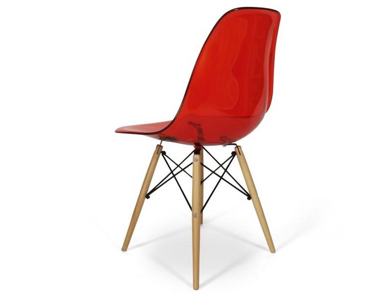 Dsw stuhl durchsichtig rot for Design stuhl rot