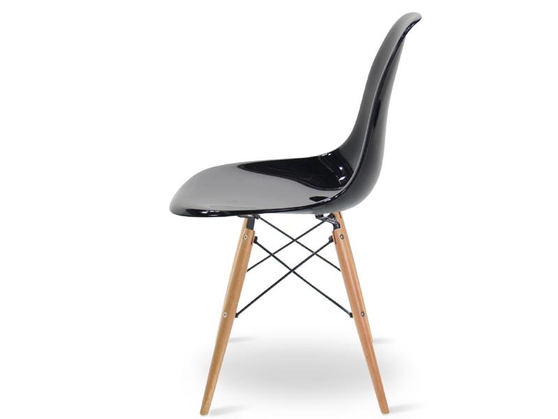 Bild von Stuhl-Design DSW Eames Stuhl - Schwarz Glänzend