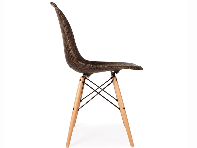 Bild von Stuhl-Design DSW Eames Stuhl Textur - Kakao