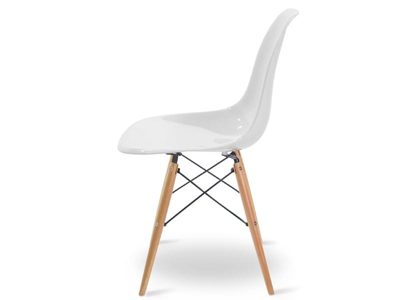 dsw stuhl wei gl nzend. Black Bedroom Furniture Sets. Home Design Ideas