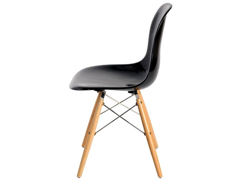 Bild von Stuhl-Design DSW Stuhl Eames - Schwarz Glänzend