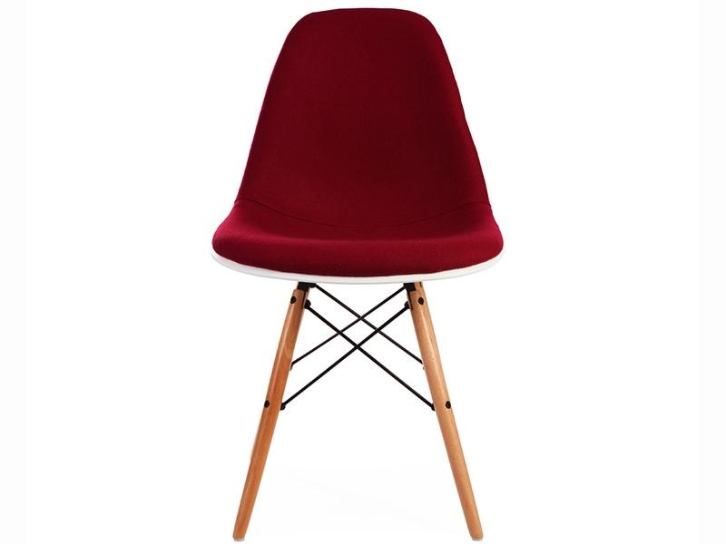 Bild von Stuhl-Design DSW Stuhl Wollpolsterung - Rot