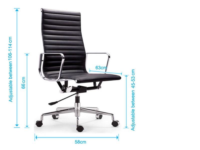 Bild von Stuhl-Design Eames Alu EA119 - Himmelblau