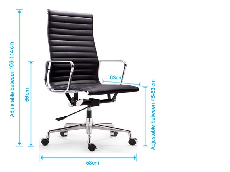 Bild von Stuhl-Design Eames Alu EA119 - Limettengrün
