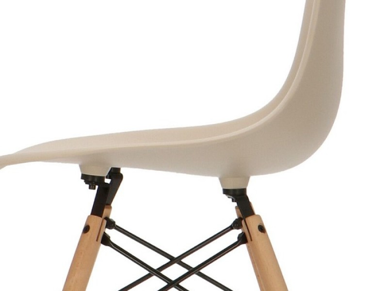Bild von Stuhl-Design Eames DSW Stuhl - Grau Beige