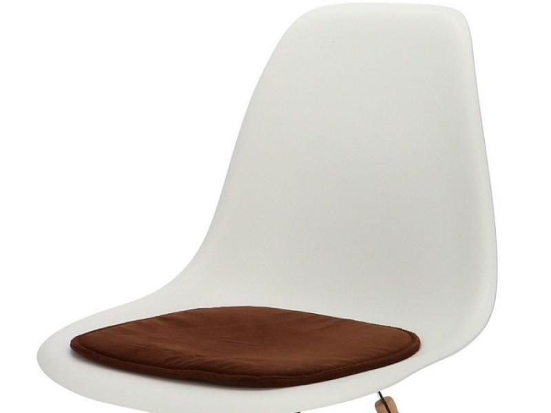 Bild von Stuhl-Design Eames Kissen - Dunkelbraun