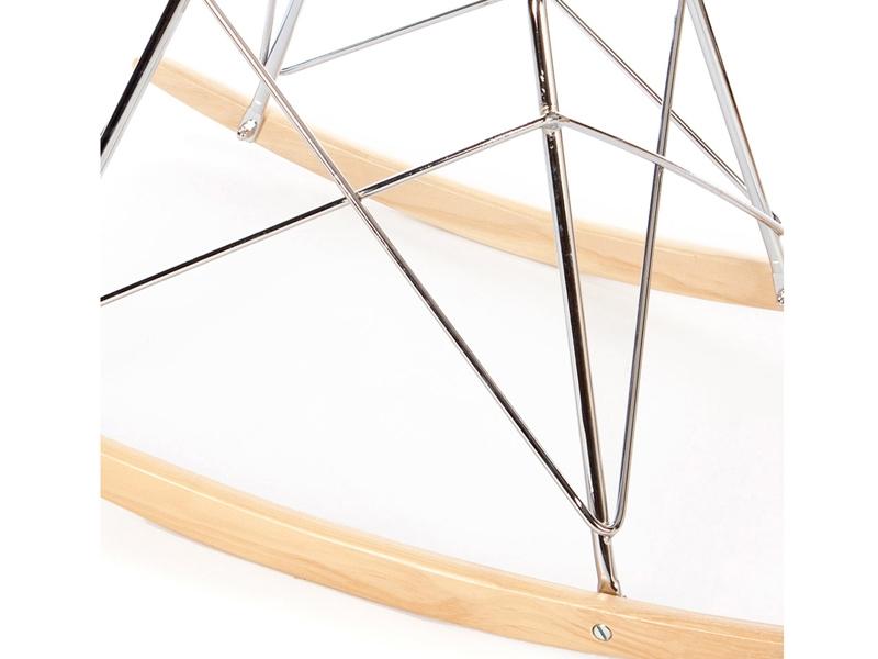 Bild von Stuhl-Design Eames RAR Wollpolsterung - Schwarz