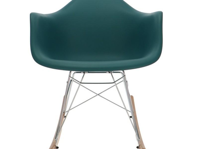 Bild von Stuhl-Design Eames Rocking Chair RAR - Blau grün
