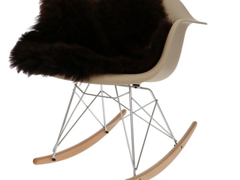 Bild von Stuhl-Design Eames Rocking Chair RAR - Grau beige