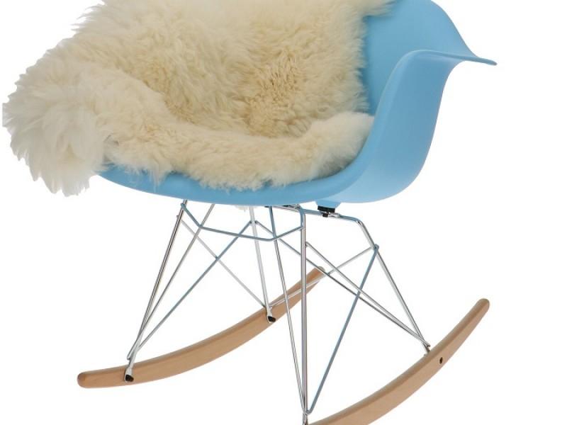 Bild von Stuhl-Design Eames Rocking Chair RAR - Hellblau