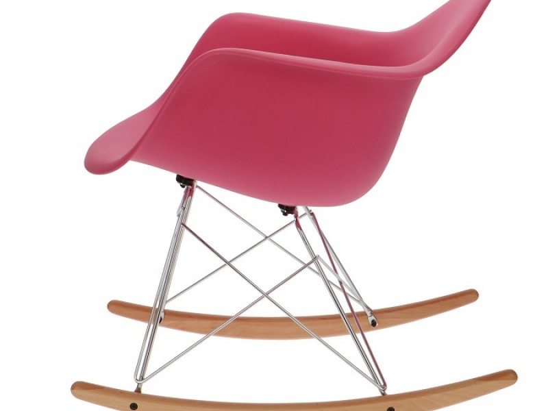 Bild von Stuhl-Design Eames Rocking Chair RAR- Rosa