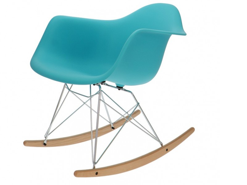 Bild von Stuhl-Design Eames Rocking Chair RAR - Türkis