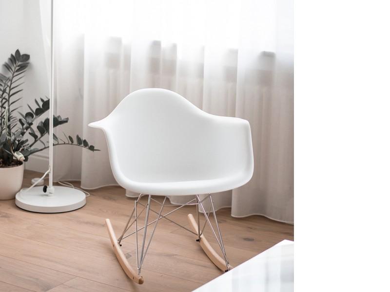 Bild von Stuhl-Design Eames Rocking Chair RAR- Weiß