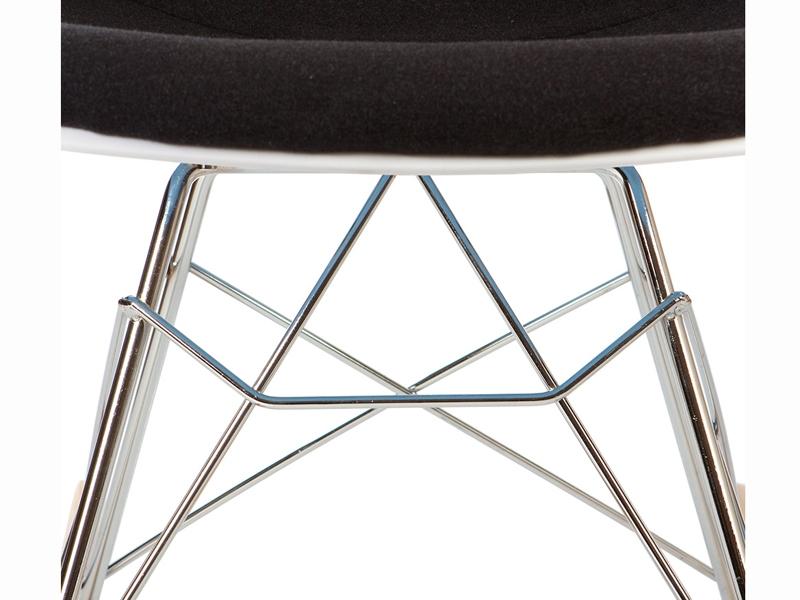Bild von Stuhl-Design Eames RSR Wollpolsterung - Grau