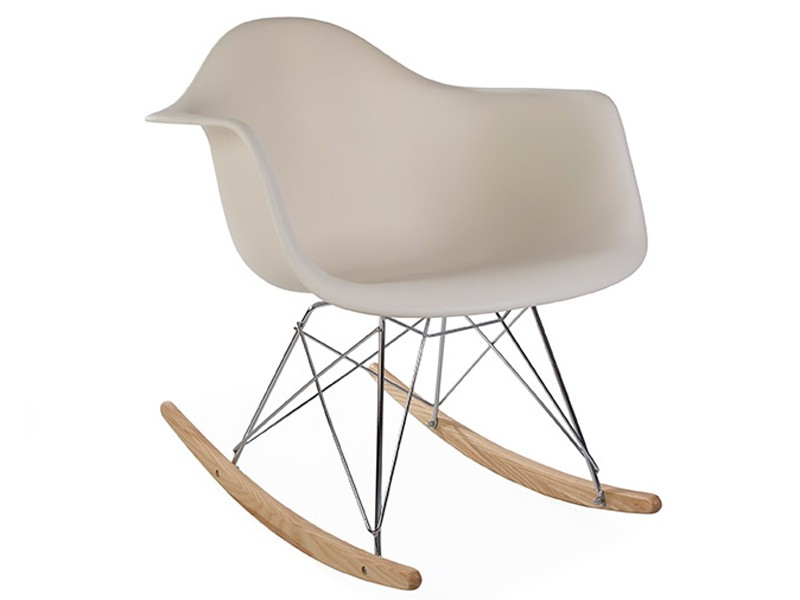 Bild von Stuhl-Design Eames Schaukelstuhl  RAR- Creme