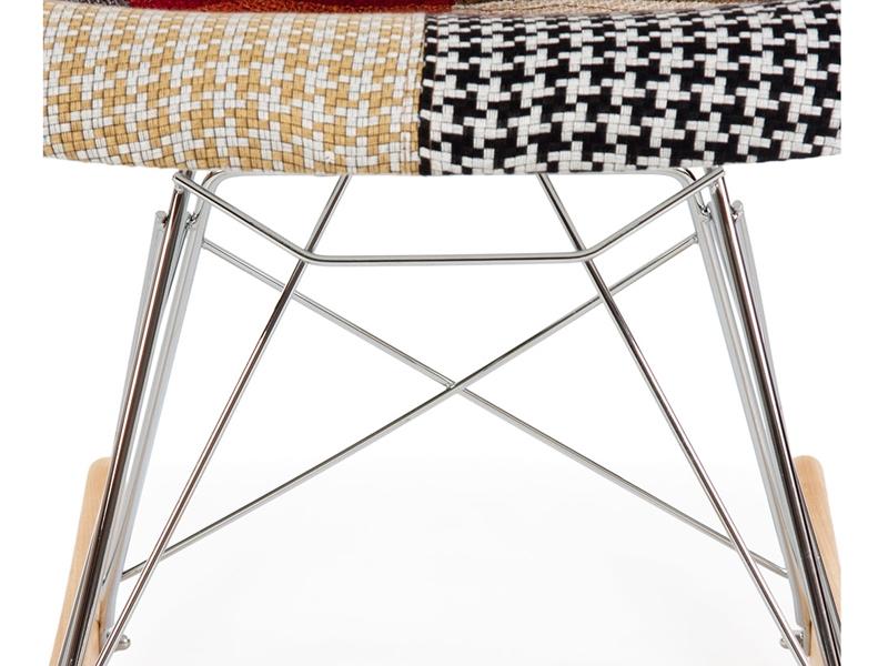 Bild von Stuhl-Design Eames Schaukelstuhl RAR - Patchwork