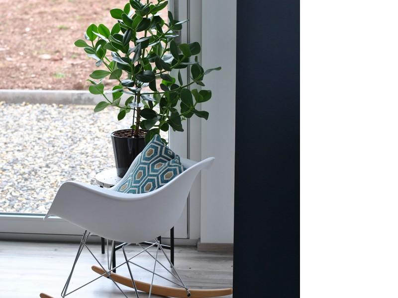 Bild von Stuhl-Design Eames Schaukelstuhl RAR- Weiß
