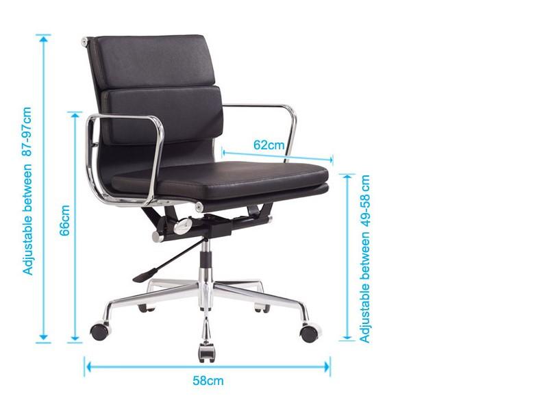 Bild von Stuhl-Design Eames Soft Pad EA217 - Schwarz