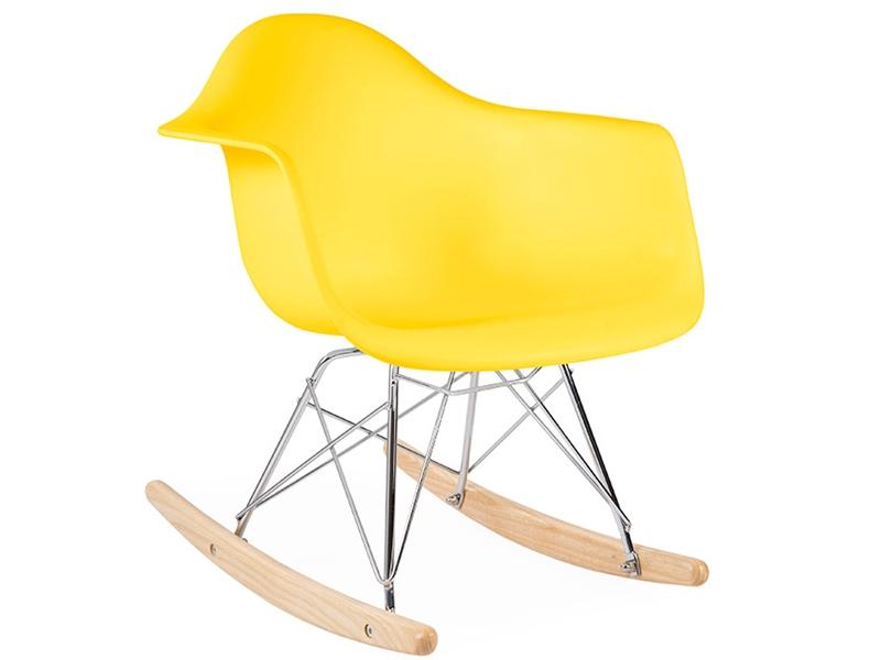 kinder eames schaukelstuhl rar gelb. Black Bedroom Furniture Sets. Home Design Ideas