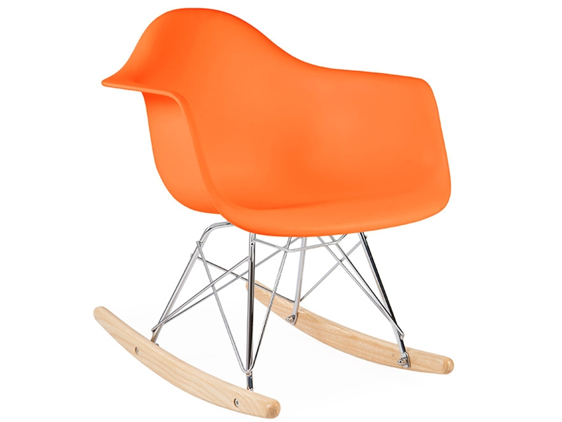 Kinder eames schaukelstuhl rar orange for Schaukelstuhl orange